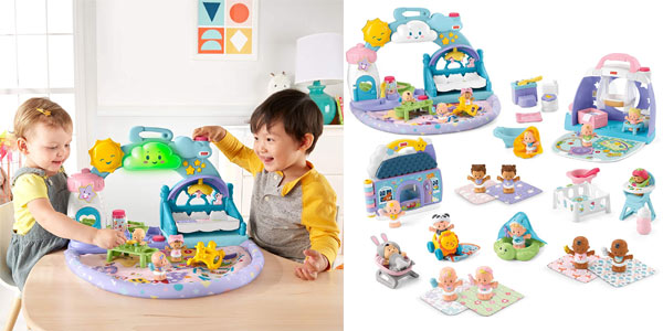 Guardería de Bebés Fisher-Price Little People (Mattel GWT76) chollazo en Amazon