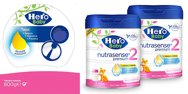 Hero Baby Nutrasense Premium 2 leche infantil chollo