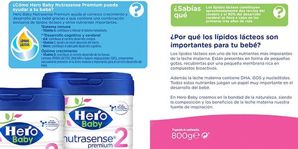 Hero Baby Nutrasense Premium 2 leche polvo bebé oferta