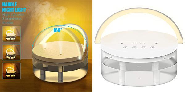 Humidificador de aire ultrasilencioso con boquillas de vapor duales barato en Amazon
