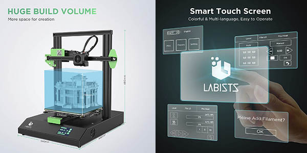 impresora 3d Labists cupón descuento Amazon