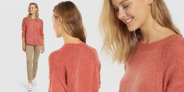 Jersey holgado rosa Unit con cuello redondo para mujer chollo en AliExpress Plaza