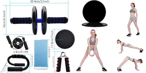 Set de accesorios deportivos Euyecety Ultimate Fitness para entrenar en casa oferta en Amazon