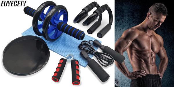 Set de accesorios deportivos Euyecety Ultimate Fitness para entrenar en casa barato en Amazon