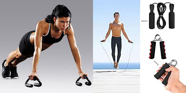 Set de accesorios deportivos Euyecety Ultimate Fitness para entrenar en casa chollo en Amazon