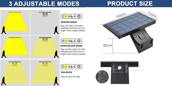 lámpara solar exterior Shopled relación calidad-precio alta