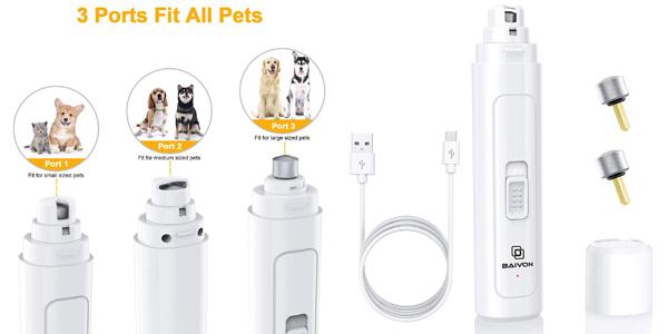 Cortaúñas eléctrico para perro y gato Baivon con 2 velocidades oferta en Amazon