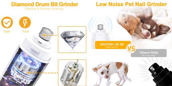 Cortaúñas eléctrico para perro y gato Baivon con 2 velocidades chollo en Amazon