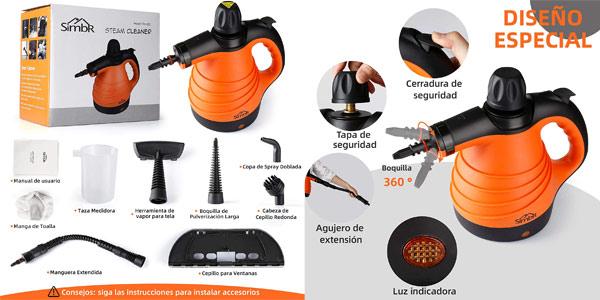 Limpiador a Vapor de Mano SIMBR para el Hogar de 1050W chollo en Amazon