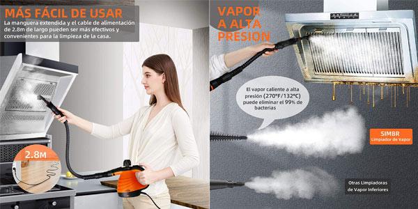 Limpiador a Vapor de Mano SIMBR para el Hogar de 1050W oferta en Amazon