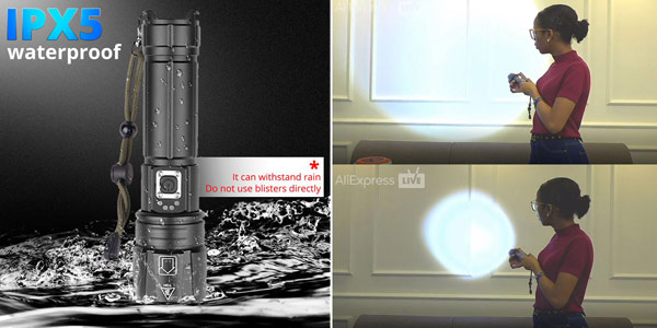 Linterna LED XHP90.2 ultra potente y recargable oferta en AliExpress