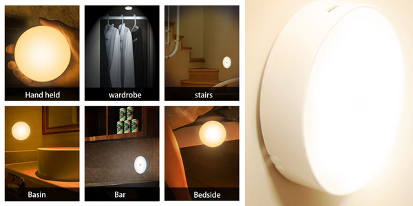 Comprar Luz LED nocturna con Sensor de movimiento barata en AliExpress