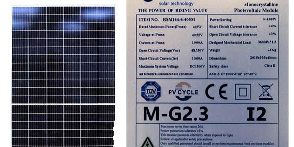 módulo fotovoltaico Risen chollo