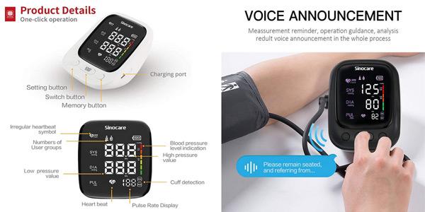 Monitor de presión arterial Sinocare chollo en AliExpress