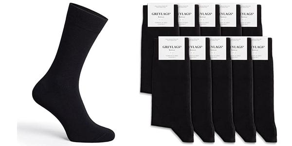 Pack x10 pares de calcetines unisex Greylags baratos en Amazon
