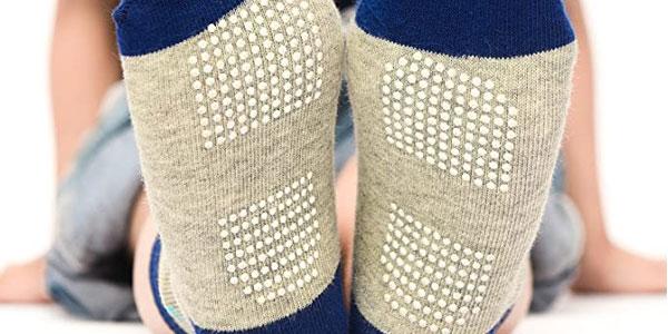 Pack x12 Pares de calcetines antideslizantes Wobon para bebé y niños chollo en Amazon