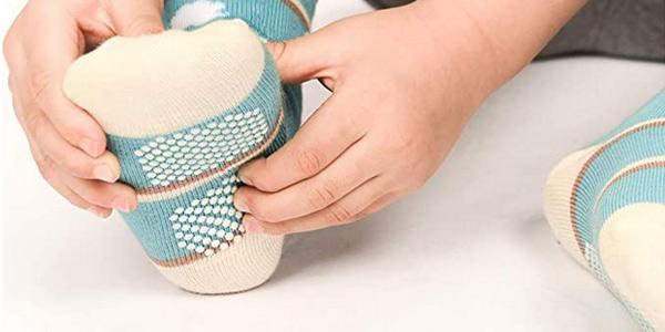 Pack x12 Pares de calcetines antideslizantes Wobon para bebé y niños oferta en Amazon