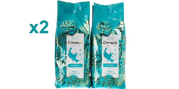Pack x2 Café Consuelo Etiopía en grano de 1 kg/ud barato en Amazon