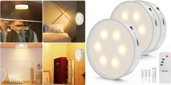 Pack x3 Luz LED nocturna Morpilot con control remoto barato en Amazon