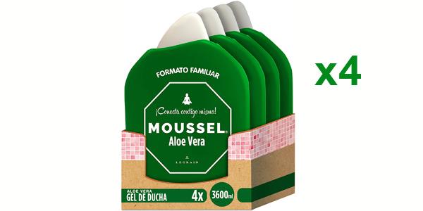 Pack x4 Gel Ducha Moussel Aloe Vera de 900 ml/ud barato en Amazon