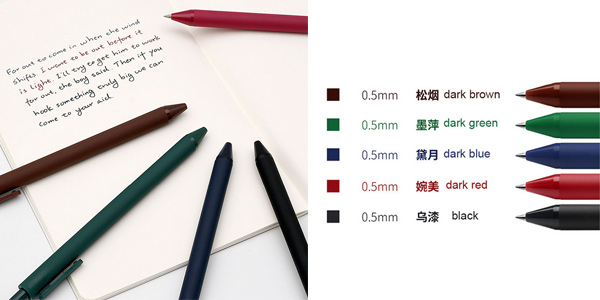 Pack 5 Bolígrafos de gel Xiaomi Kaco oferta en AliExpress
