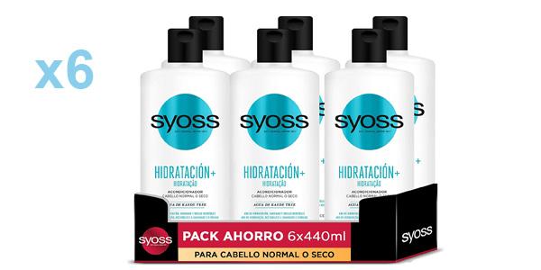 Pack x6 Acondionadores capilares Syoss Hidratación+ de 440 ml barato en Amazon