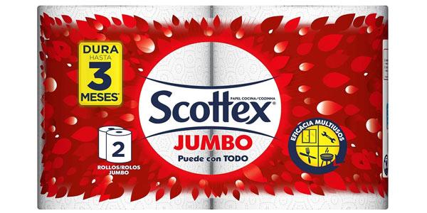 Pack x6 Rollos de Papel de cocina Scottex Jumbo chollo en Amazon