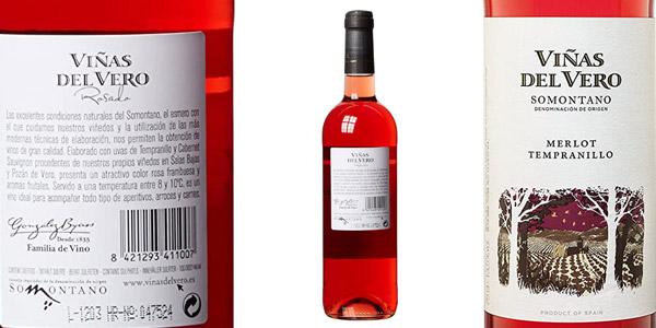 Pack x6 Vino D.O. Somontano Viñas Del Vero de 750 ml/ud chollo en Amazon