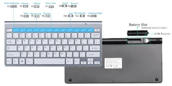Pack Teclado silencioso y ratón inalámbrico de 2,4G oferta en AliExpress