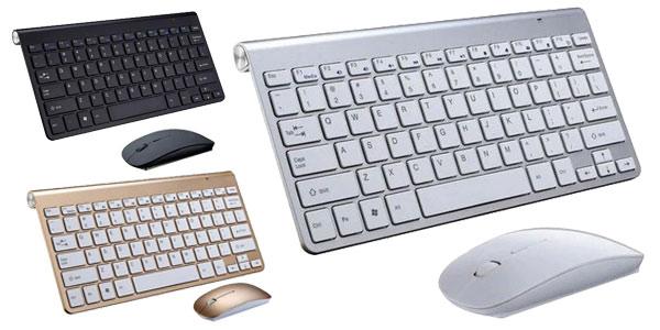Pack Teclado silencioso y ratón inalámbrico de 2,4G barato en AliExpress