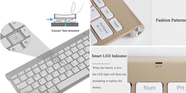 Pack Teclado silencioso y ratón inalámbrico de 2,4G chollo en AliExpress