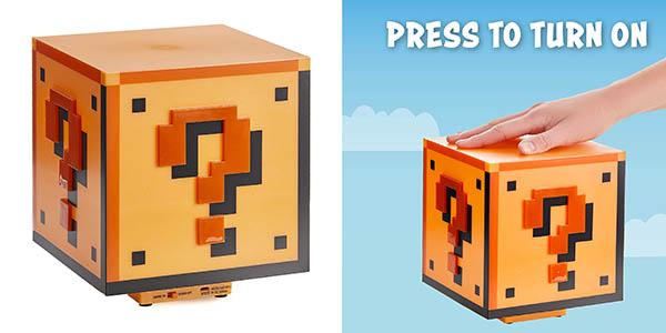 Paladone Super Mario Bross bloque interrogación lámpara barata