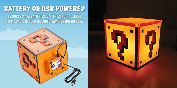 Paladone Super Mario Bros Bloque interrogación lámpara mesa chollo