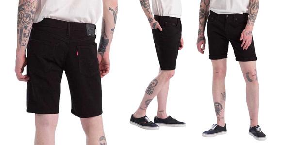 Pantalones cortos Levi's 502 Taper Hemmed Short para hombre baratos en Amazon
