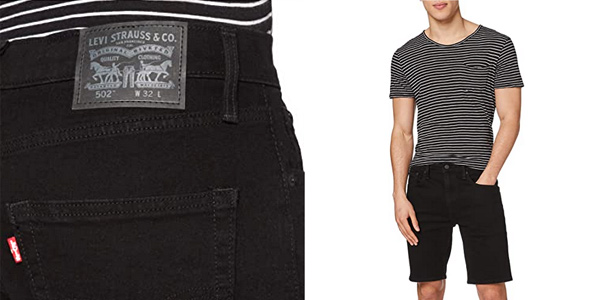 Pantalones cortos Levi's 502 Taper Hemmed Short para hombre chollazo en Amazon