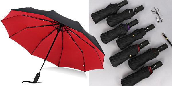 Paraguas plegable automático con doble capa barato en AliExpress