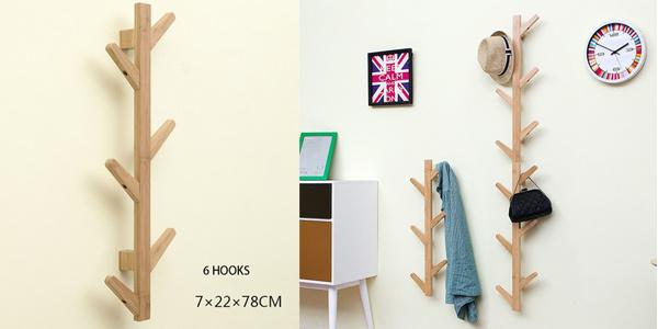 Perchero de pared de madera de bambú DuoxLife oferta en AliExpress