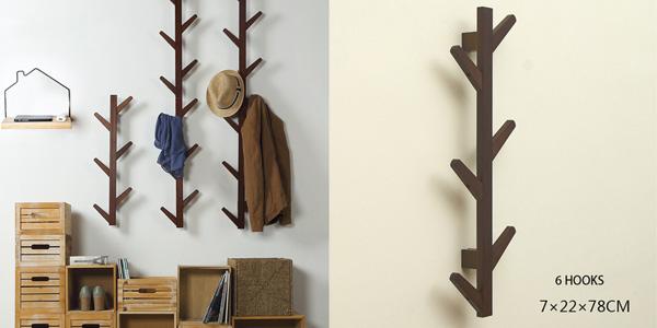 Perchero de pared de madera de bambú DuoxLife barato en AliExpress
