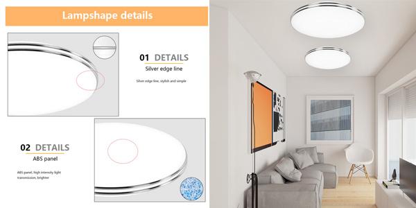 Panel LED circular ultra fino para techo VipMoon de 12W oferta en AliExpress