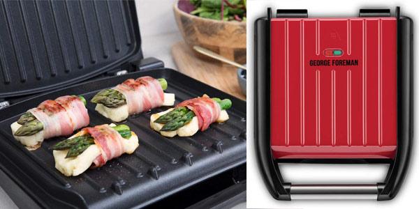 Plancha grill eléctrica George Foreman Compact de 1200 W oferta en Amazon