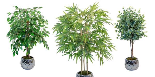 Plantas artificiales tipo árbol Maia baratas en AliExpress