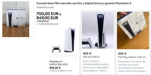 PS5 reventa especuladores