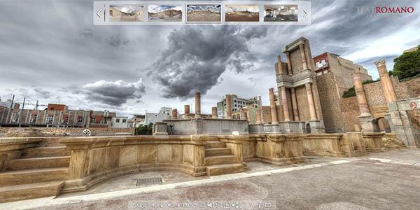 recorrido virtual teatro romano Cartagena