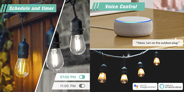 Refoss enchufe inteligente exterior impermeable control voz barato