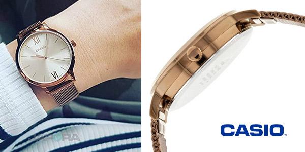 Reloj Casio LTP-E157MR-9AEF Vintage Round para mujer chollo en Amazon