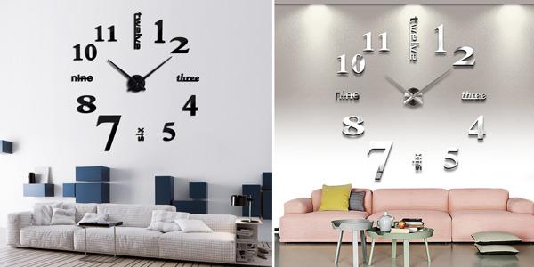 Reloj de pared OHO con espejo acrílico barato en AliExpress