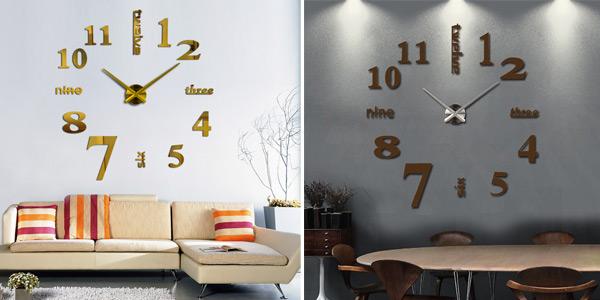Reloj de pared OHO con espejo acrílico oferta en AliExpress