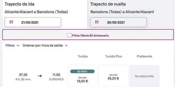 Renfe billetes baratos viajes fin estado alarma