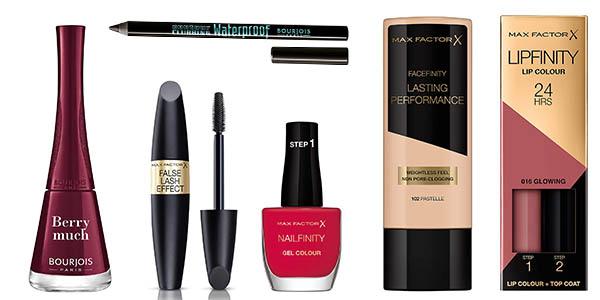 Rimmel London Max Factor Bourjois ofertas productos maquillaje