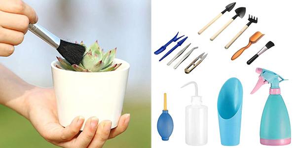Set x14 Mini herramientas de mano de jardinería barato en Amazon